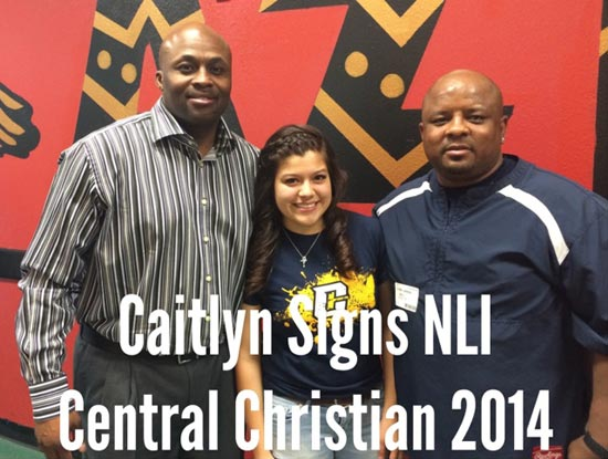 Caitlyn Signs Christian College
